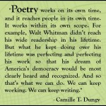 Sneak Peek - Interview with Camille T. Dungy